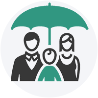 Family protected by life insurance